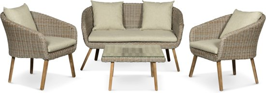 Betere bol.com | Lanterfant® Loungeset Maud – 4 zitplekken - tafel met LW-25