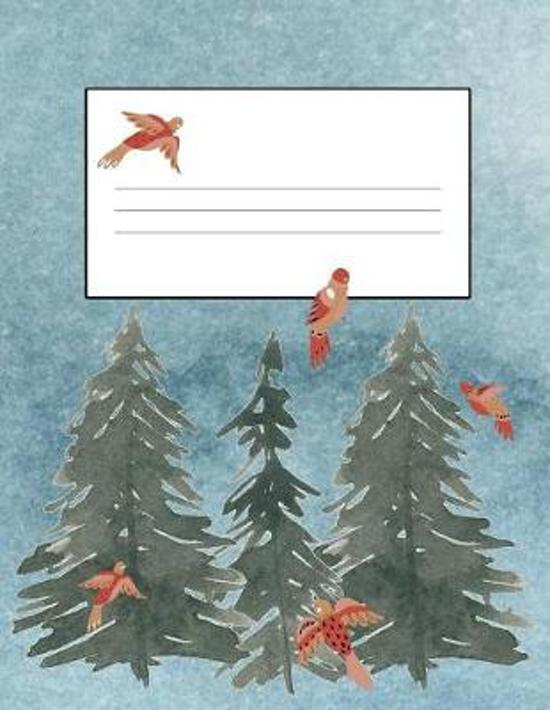 Trees & Birds 8.5 x 11 150 Pages Journal Notebook