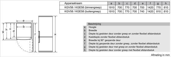 Bosch KGE58BI40