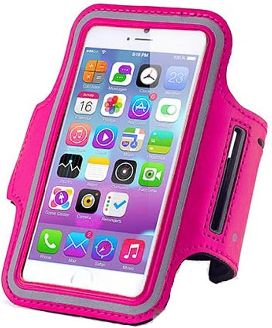 Sports armband case Donker Roze Dark Pink voor Apple iPhone 7 Plus