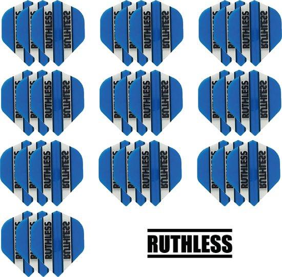 deDartshop 10 Sets (30 stuks) Ruthless flights Multipack - Aqua - darts flights
