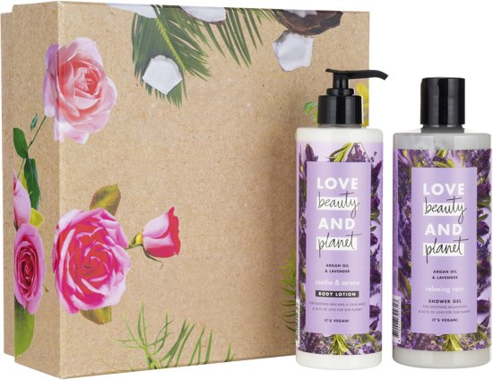 Love Beauty and Planet Luxe Geschenkset - Argan Oil & Lavender - Kerstcadeau