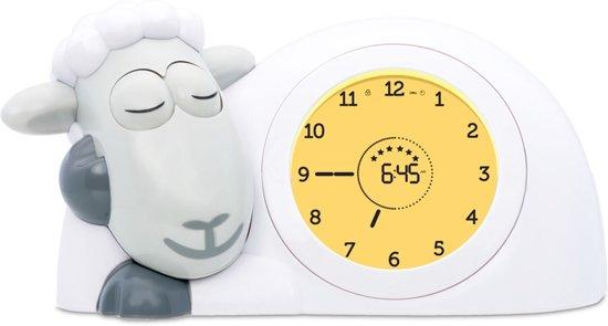 Zazu - Sam - Slaaptrainer - Grijs / Wit - Kinderwekker met nachtlamp functie en slaaptimers