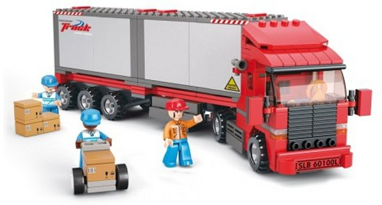 Sluban container vrachtwagen