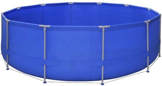 vidaXL Opbouwzwembad met stalen frame en filterpomp 475 cm rond