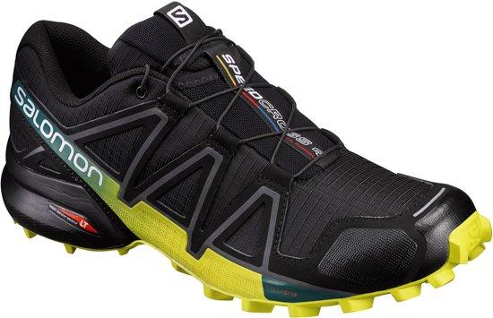 Salomon Speedcross 4 Trail Hardloopschoenen - Maat 44 - Mannen - zwart/geel/blauw