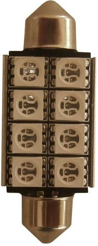 C5W 42mm 8 SMD Canbus LED binnenverlichting - groen - LET OP per stuk