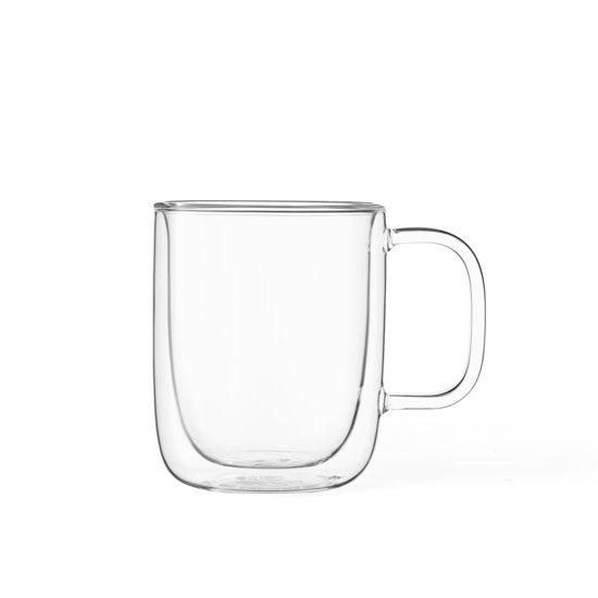 Viva Scandinavia Classic Koffie-/Theeglas - Dubbelwandig - Incl. Handvat - 400 ml - Set van 2 stuks - Transparant