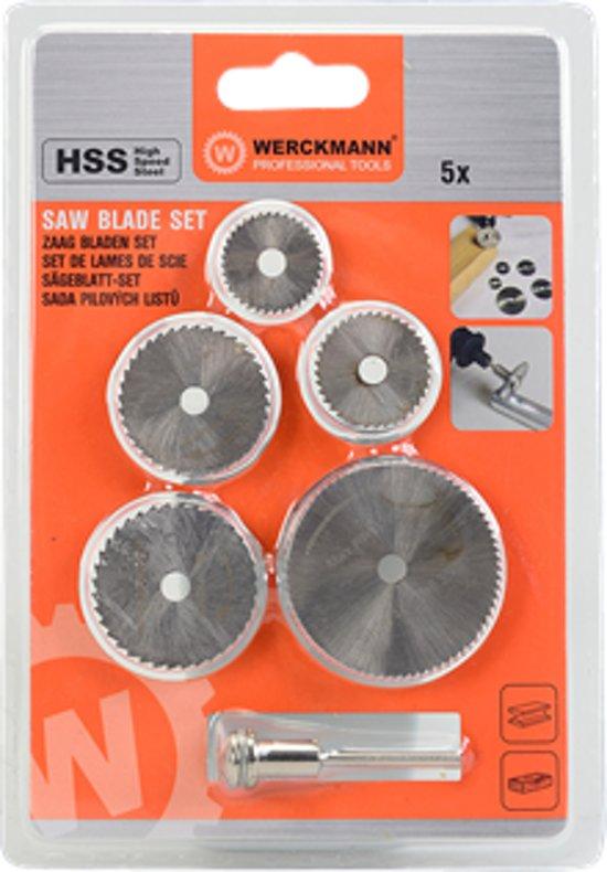 HSS zaagbladen set 6-delige HSS  Zaagbladen Set  3.2mm  Mandriel - Ø22, 25, 32, 35, 44mm - Max  20.000 RPM | High-Speed Stalen Zaagbladen | Zaagbladenset Staal