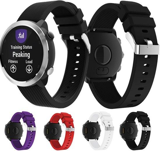 Siliconen Horloge Band Voor Garmin Forerunner 645 - Armband / Polsband / Strap / Sportband - Zwart