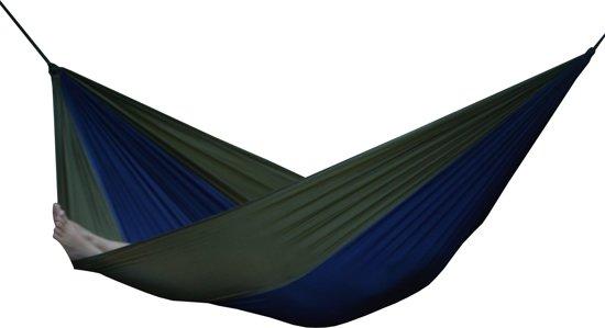 Parachute Hangmat Dubbel - Marine blauw/Beige
