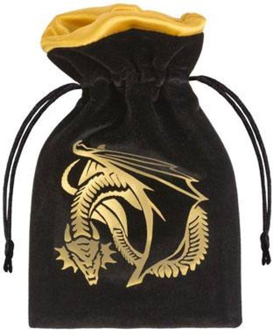Afbeelding van het spel Dice Bag Dragon Black & Golden Velour Q-Workshop