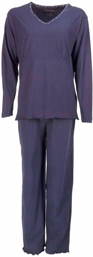 1830552da5e bol.com | Dames pyjama met V hals en lange mouwen van 100 % katoen ...