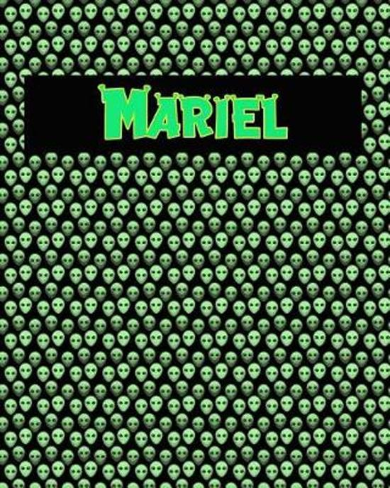 120 Page Handwriting Practice Book with Green Alien Cover Mariel