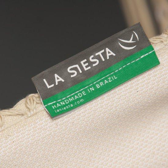 La Siesta Bossanova Hangmat Champagne |Familie Hangmat Draagkracht 200 Kilo| Hangmat Duurzaam Biologisch Katoen | Hangmat Wit met franje | Hangmat La Siesta Wit 180 cm x 400 cm.