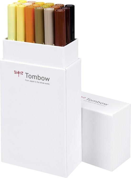 Tombow ABT Dual-Brush tekenpennen - Aarde kleuren - Set van 18