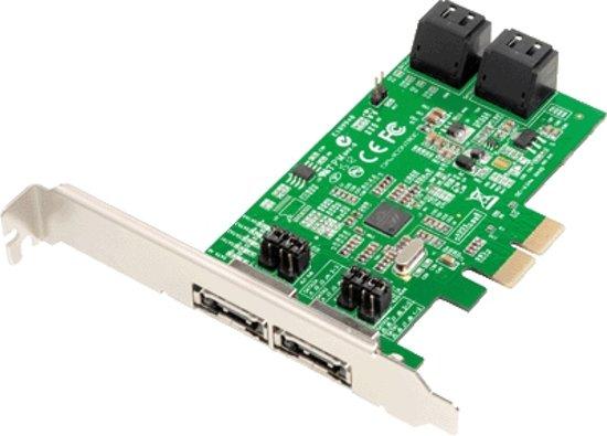 Dawicontrol PCI Card DC-624e RAID 4-kanaals SATA 6G Retail LP
