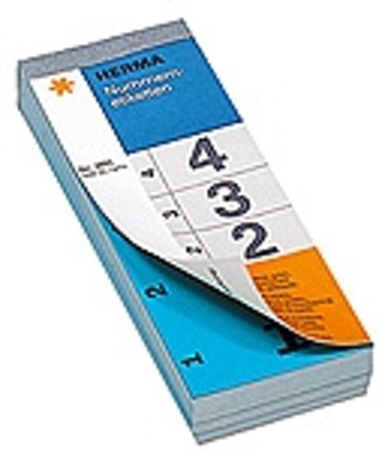 HERMA 4893 nummeretiketten 2-voud zelfklevend 1-500 blauw 28x56 mm