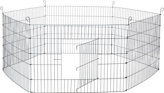 Adori Konijnenren Metaal Zwart - Dierenverblijf - 2 x 60x60 cm