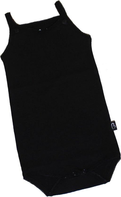 KinderBasicsRomper Meisje Hemdmodel - Zwart - 92