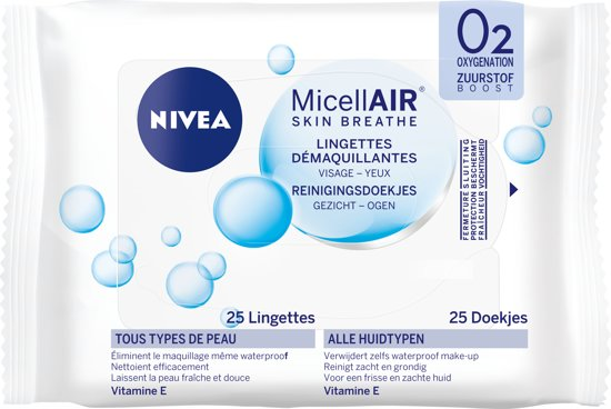 NIVEA 3-in-1 Verzorgende Gezichtsreiniger Micellair Doekjes - 25 stuks