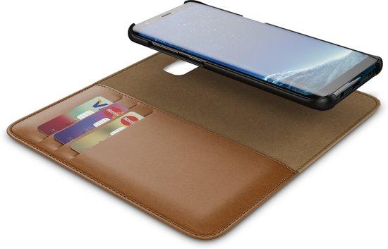 BeHello Samsung Galaxy S8 Hoesje I 2-in-1 Wallet Case met Ruimte Voor 3 Pasjes Bruin