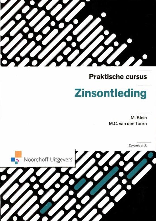 Praktische cursus zinsontleding - M. Klein