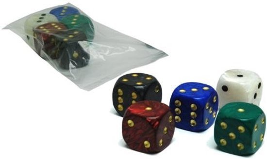 Afbeelding van het spel Hot games Dobbelsteen wit 1 stuks marmer 36mm