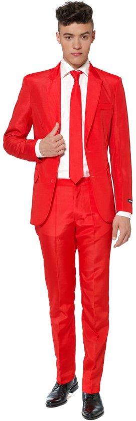 Suitmeister Solid Red- Kostuum - Maat - XL