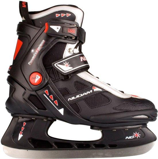 Nijdam 3353 Ijshockeyschaats - Semi-Softboot - Zwart/Oranje - Maat 40