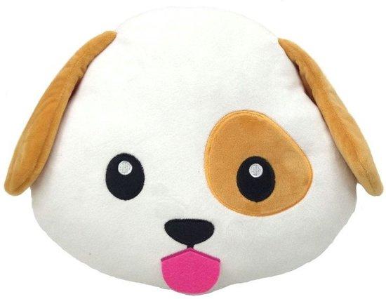 Emoji knuffel/Kussen hond