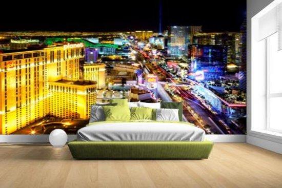 Skyline Las Vegas in de nacht Fotobehang 380x265