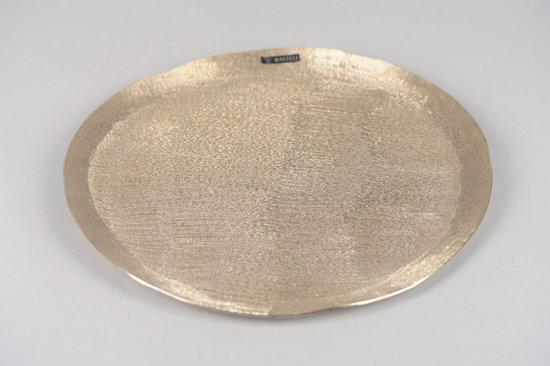 Rasteli - Dienblad - Serveer schaal - Sierschaal - Schaal - Aluminium - Ø35xH2cm - Gold Mink - L