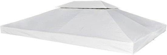 Prieel partytent overkapping doek 270 g m 3 x 4 m creme wit - Prieel frame van ...