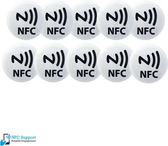 NFC Tags set 10 stuks wit