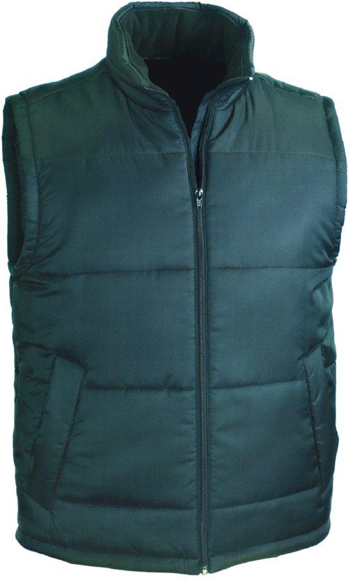 S Bodywarmer met Kleur Maat Classic Kraag Fleece Gevoerde Senvi Groen qtUHP