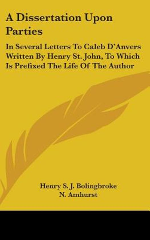 Bolingbroke dissertation upon parties