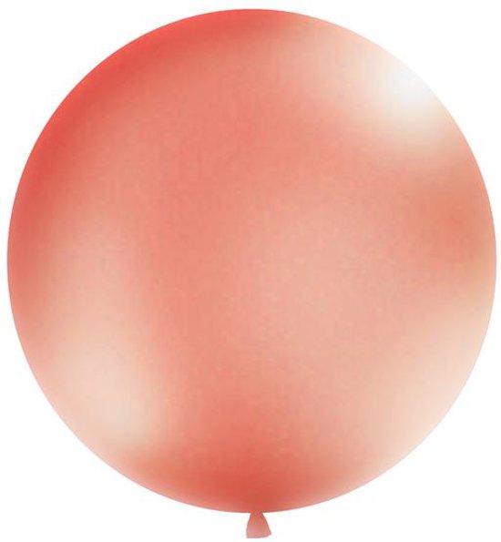 Reuzeballon 1 meter - rose goud metallic