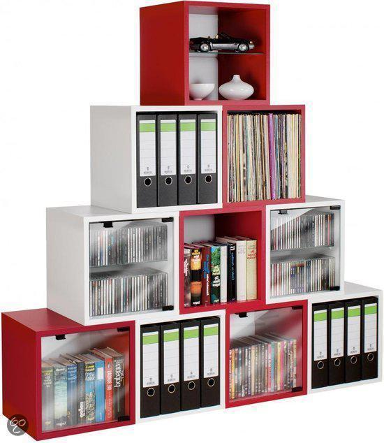 Cd dvd rek opbergkast meubel ook voor lp platen for Boeken opbergsysteem