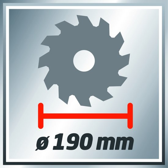 Einhell TC-CS 1400/1 Handcirkelzaag - 1400 W - Ø190 x Ø30 x 2,5mm / 24 T