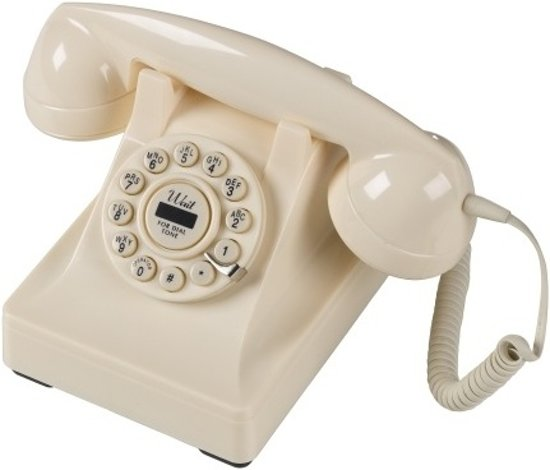 Wild & Wolf Serie 302 Creme Retro Telefoon