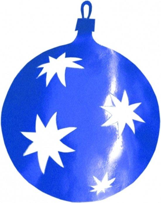 Kerstballen hangdecoratie blauw 40 cm - blauwe kerstversiering