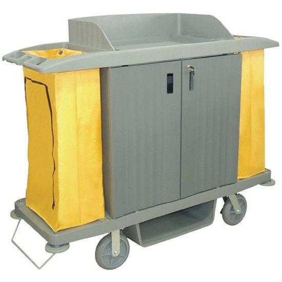 Jantex huishoudwagen, 2 x 93ltr. zakken