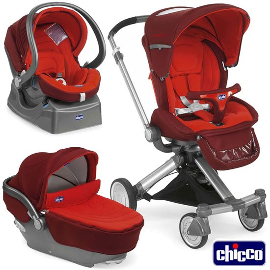 chicco trio i move kinderwagen rood. Black Bedroom Furniture Sets. Home Design Ideas