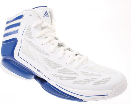 huge discount 8e958 b4a3e Adidas Adizero Crazy Light Basketbalschoenen Wit Blauw Mt 50