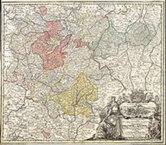 Historische Karte: Fürstentümer Gotha, Coburg und Altenburg 1729 (Plano)