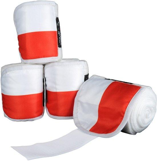 Polarfleecebandages -Flags- Set van 4 Vlag Polen 300 cm