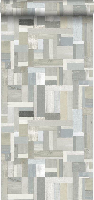 Origin behang sloophout motief beige