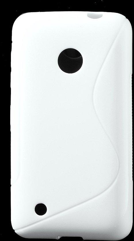 TPU Case S-Shape Nokia Lumia 530 Wit