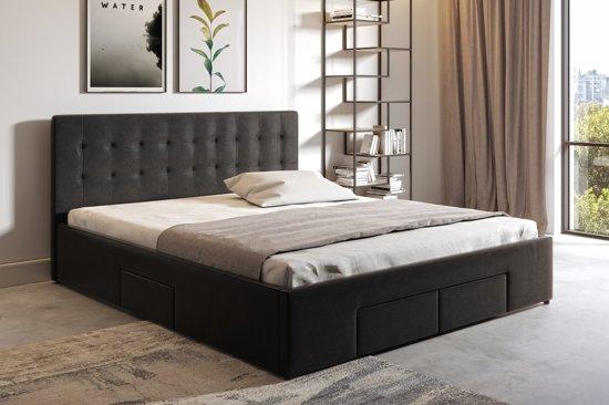 Tweepersoonsbed Beter Bed.Bol Com Meubella Tweepersoonsbed Milo Zwart 160x200 Cm